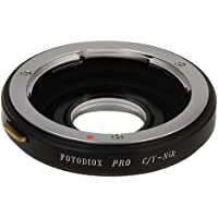 Fotodiox Pro Lens Mount Adapter - Contax/Yashica (CY) SLR Lens to Nikon F Mount SLR Camera Body