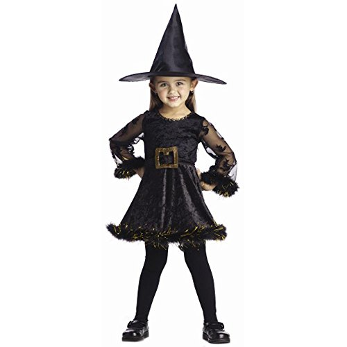 Child's Cute Toddler Adorable Witch Halloween Costume (2-4T) Small (Cute Halloween Costumes For Two Kids)