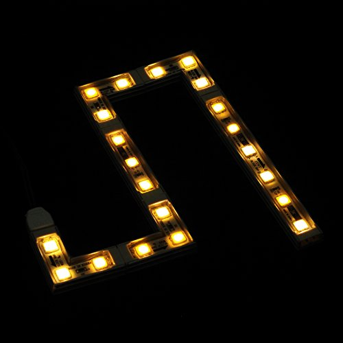 "GALAXY LED Lego-Like Rigid Block Bar (Warm White, 20"") - IP67 Waterproof Dustproof High-Quality Rigid Single Color LED Strip/Self-Install/Sleek, for Windows/Displays/Showcases/Frames"