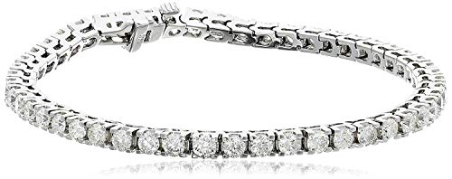 IGI Certified 2.0 Cttw Brilliant-Cut Diamond 14K White Gold Diamond Tennis Bracelet (H-I Color, I1 Clarity), 7-3/4