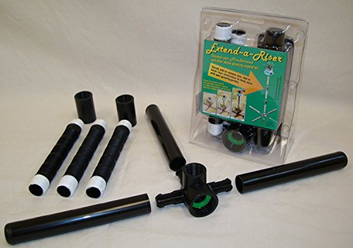 Garden Lawn Sprinkler & Stand - Noodlehead with Extend-A-Riser stand COMBO OFFER