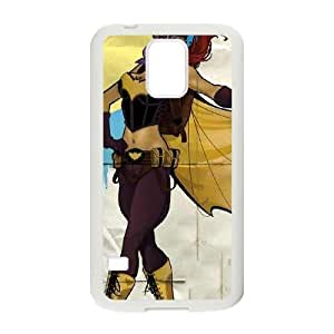 Durable Hard cover Customized TPU case Batgirl Fly Gotham City Airlines Samsung Galaxy S5 Cell Phone Case White