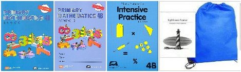 Primary Mathematics 4B Textbook, Workbook & Intensive Practice Homeschool Kit in a Bag