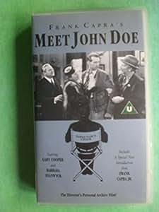 Meet John Doe [VHS]: Amazon.es: Gary Cooper, Barbara