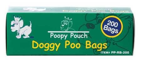 Poopy Pouch Pet Waste Bag, 13in Hx8in W, 3/4 gal, PK10