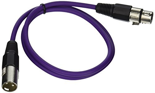 SEISMIC AUDIO - SAXLX-3-6 Pack of 3' Purple XLR Male to XLR Female Patch Cables - Balanced - 3 Foot Patch Cords [並行輸入品] B07DZM97PB