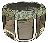 New Large Pet Dog Cat Tent Playpen Exercise Play Pen Soft Crate