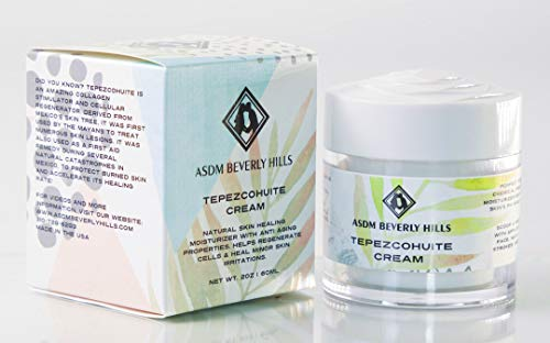 ASDM Beverly Hills Tepezcohuite Cream 2-ounce/60ml Natural Skin Scar, Burn, Abrasion and Eczema Healing Moisturizer with Anti-aging Properties and Fungicide Capabilities