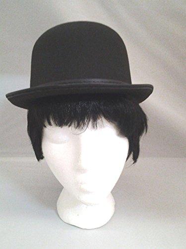 (Jacobson Hat Company Black Derby Bowler Costume Hat Chaplin A Clockwork Orange Steampunk Adult)