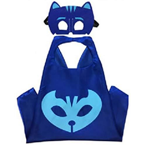 Blingbling Superhero Cape & MASK Set Kids Childrens Halloween Costume Catboy]()