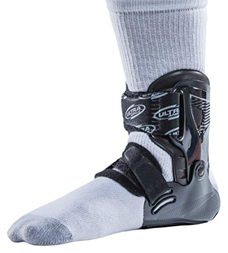 (Ultra Zoom Ankle Brace for Injury Prevention, Provides Support and Helps Prevent Sprained Ankles in Volleyball, Basketball, Football - Supportive, Secure Brace for Athletes - Black, Small/Medium)