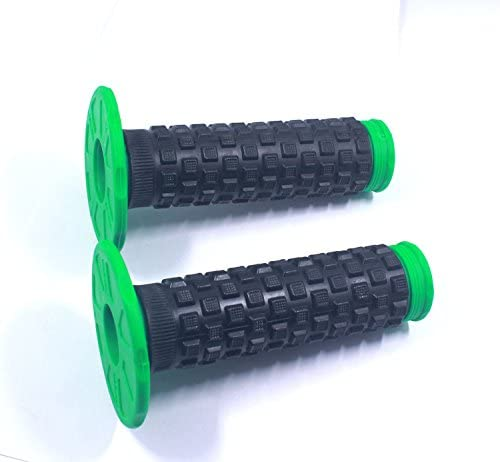 Green Handlebar grip STONEMEN Rubber Gel Grips for Kawasaki KX125 KX250 KX250F KX450F Pit Dirt Bike