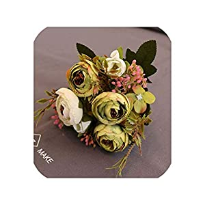 END GAME 10 Heads/1 Pack of Pink Silk Tea Wedding Bouquet Decoration Fake Artificial Artificial Flower 99