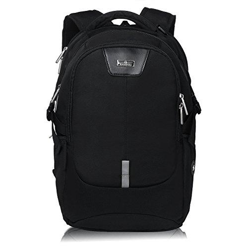 Silmarils 13 Inch to 17.3 Inch TSA Friendly ScanSmart Laptop Backpack Waterproof(Black/Blue) (black)