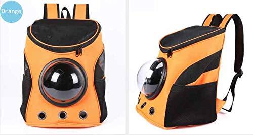 orange DMMW Pet supplies shoulder pet out carrying bag backpack new dog pet bag space (color   orange)