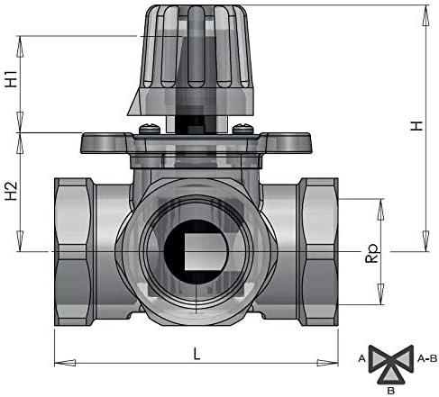"""Heizungsmischer BARBERI 3-Wege Mischerventil mit Stellmotor 230V Kv 6 IG 3//4/"""""""