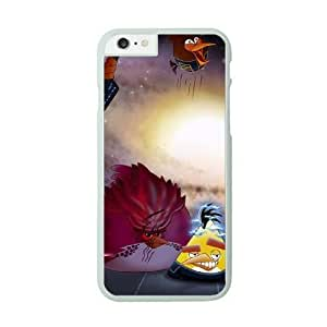 iPhone 6 White Cell Phone Case HUBYLW2327 Angry Birds Starwars Phone Case Cover Personalized