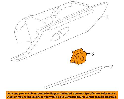 97-05 Buick Regal & Century Glove Box Door Latch Handle Tan Neutral GM 10281138 - Buick Glove Box