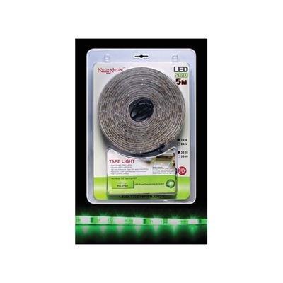 5 m Green LED Tape Light Kit with PSU