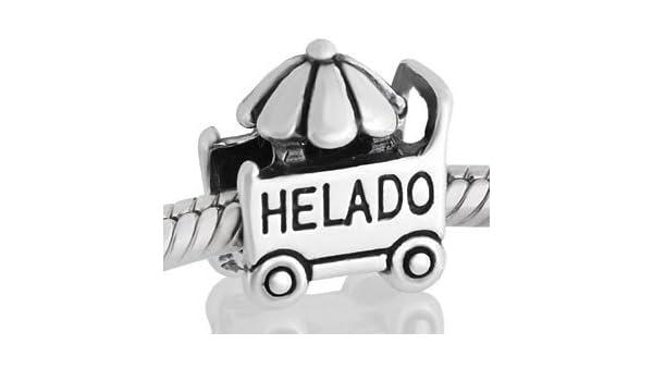 Abalorio Niagarra carrito de helado, similar abalorios pandora: Amazon.es: Joyería