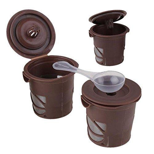 Meanhoo 3 pack Reusable Coffee Filter Smart Pod Alternative K-Cup Coffee Clever Coffee Capsule - Fits B30, B31, B40, B41, B60, B70, K40, K45, K65, K75 Series