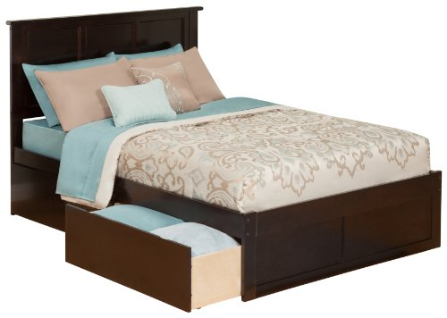 Flat Panel Footboard (Madison Bed with Flat Panel Footboard and 2 Urban Bed Drawers, Full, Espresso)