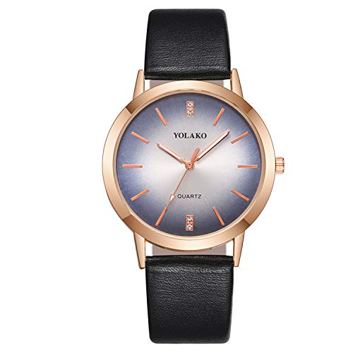 Amazon.com : liberalism Rose Gold Women Watches Fashion Female Leather Quartz Wrist Watch Casual Ladies Watch Clock Relojes para Mujer(Black, ...