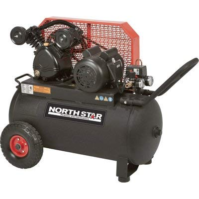 NorthStar Single-Stage Portable Electric Air Compressor – 2 HP, 20-Gallon Horizontal, 5.0 CFM