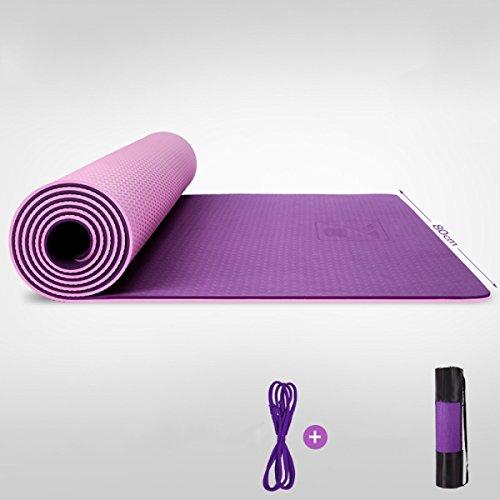 Tapis De Yoga Eco Friendly TPE 8mm Épais Avec Sangle De Transport Allonger Soft Non-Slip Fitness Gym Aérobie Pilates Tapis De Camping,H