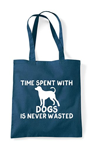 Tote Dogs Never Is Time Petrol Wasted Funny Spent Shopper Bag With ZIqZnx0E