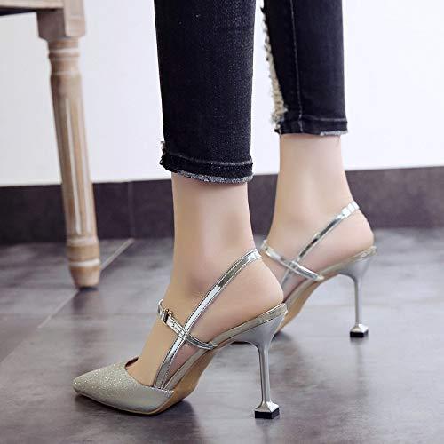 la de Boda de Zapatos Sandalias Tacon Tacones Wild Alto Zapatos 10 w4IqA6