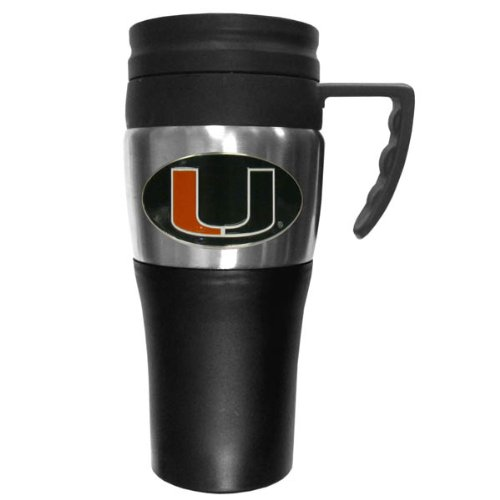 NCAA Miami Hurricanes 2 Toned Travel Mug ()