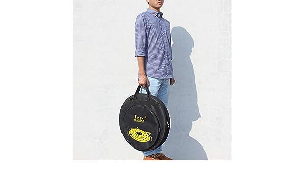 Amazon.com: Leoie Mochila de platillos de 21 pulgadas Bolsas de tres bolsillos con divisor extra\u00edble: Musical Instruments