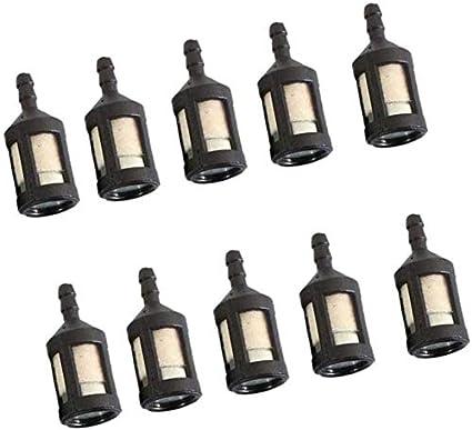 10 piezas Mini filtro de combustible plástico filtro de aceite ...