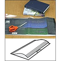 Open Edge Adjustable Book Jacket Covers - 1.5 mil 14 x 28 Sheets w/tabs - 50/box