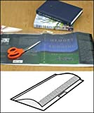 Open Edge Adjustable Book Jacket Covers - 1.5 mil 12'' x 25-1/2'' Sheets w/tabs - 50/box