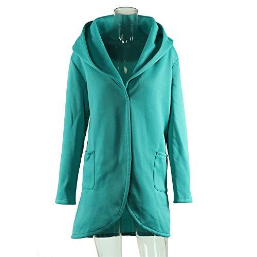 Manches Femme coats Trench 5xl Capuche Lac Longues Poche Zjewh Avec Manteau Hiver Bleu Xl wYxIt1A