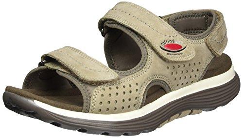 Gabor Shoes Rollingsoft, Sandalias con Cuña para Mujer Marrón (visone/fumo 33)