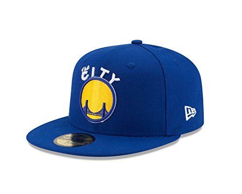 NBA Golden State Warriors Hardwood Classics 2Tone Basic 59FIFTY Fitted Cap, 7 1/4, Royal