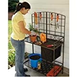 Wrought-Iron Decorative Foldable Potting Bench