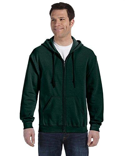 Gildan Adult Heavy Blend 8 Oz, 50/50 Full-Zip Hood - Forest Green - M - (Style # G186 - Original Label)