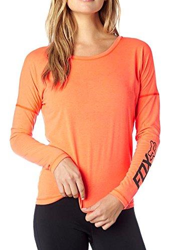 Fox Racing Womens Backtrack Tech Raglan Long-Sleeve Shirt Large Flo Orange