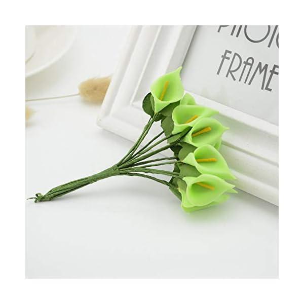 SUPVOX 200pcs Stem Wire Floral Wire Dark Green Floral Paper Wrapped Wire for Bouquets Flower Arrangements DIY Craft 18cm