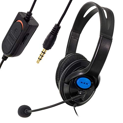 dulawei3 Wired Noise Cancelling Gaming Headset Headphones Music Earphone Earbuds with Microphone for Sony PS4