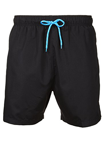 LAGUNA Men's New Islander Solid Color Relaxed Fit Boardshort Swim Trunks Bathing Suit, UPF 50+