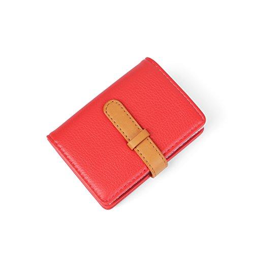 Rouge Femme Cuir 26 2 marron 10 Couleurs Crédit De Fentes Porte Pastèque Cartes Homme TTZ8qOX