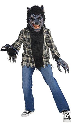 Warewolf Masks (Children's Rabid Werewolf Costume Size Medium (8-10))