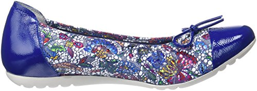 Blue Women's Sabrinas Flats London Closed Toe Azul Ballet wpq4nOZx