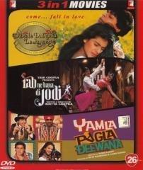 Dilwale Dulhania Le Jayenge / Rab Ne Bana Di Jodi / Yamla Pagla Deewana 3 in 1 Dvd (100% Orginal Without Subtittle) [Dvd]