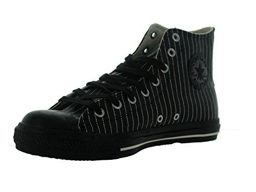 Converse Men's CT Pin star Leather HI Black Sneakers Us - Leather Star Hi Sneaker